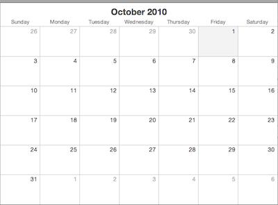 Monthly homework calendar third grade